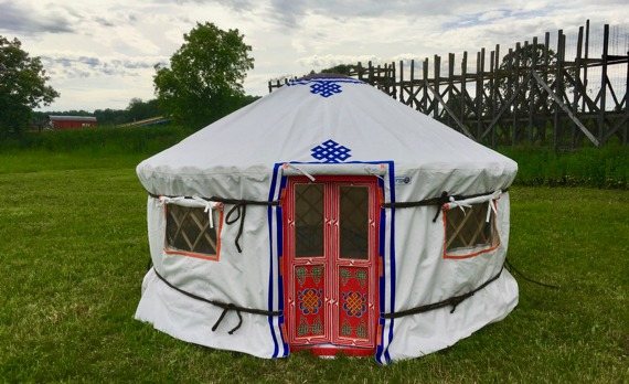 A tiny Yurt made by GroovyYurts