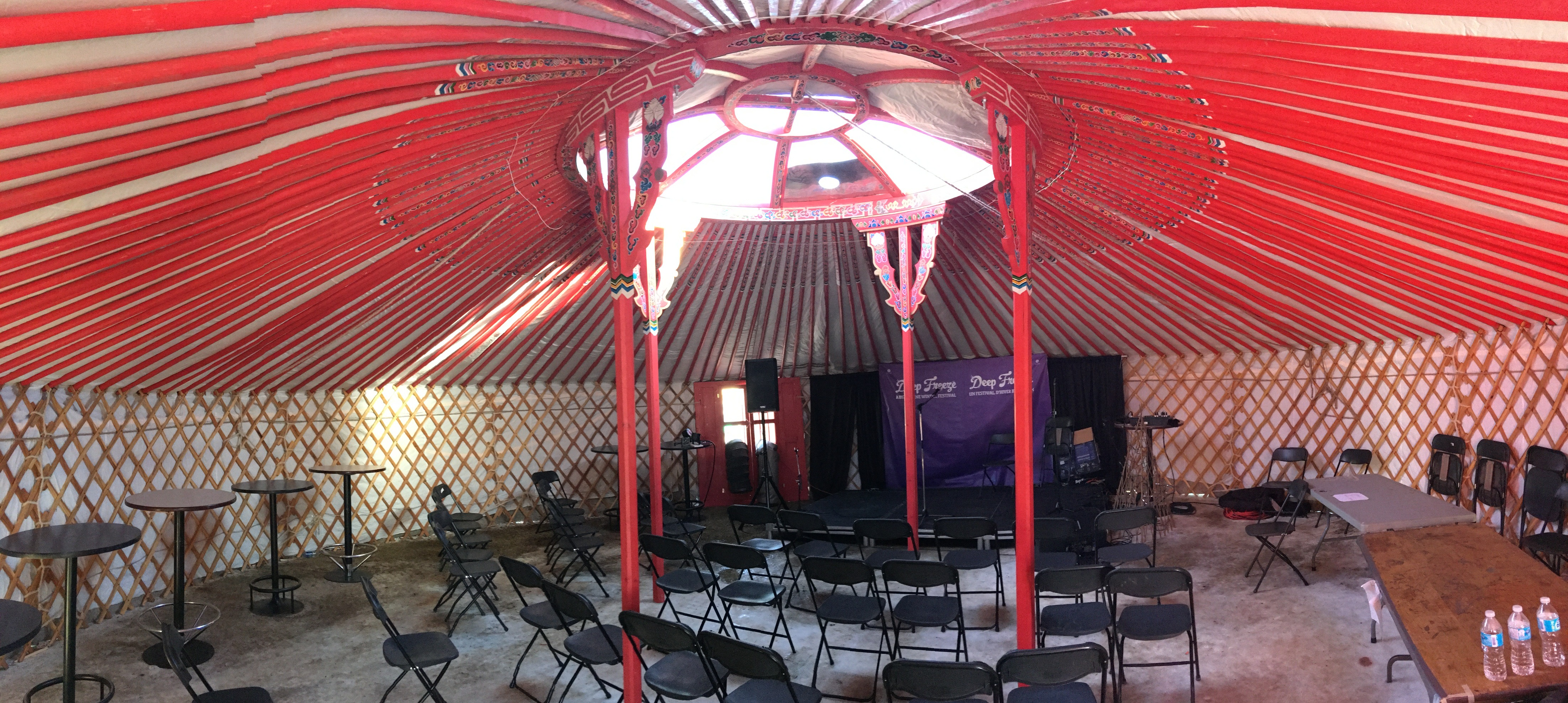 event hosted in a yurt