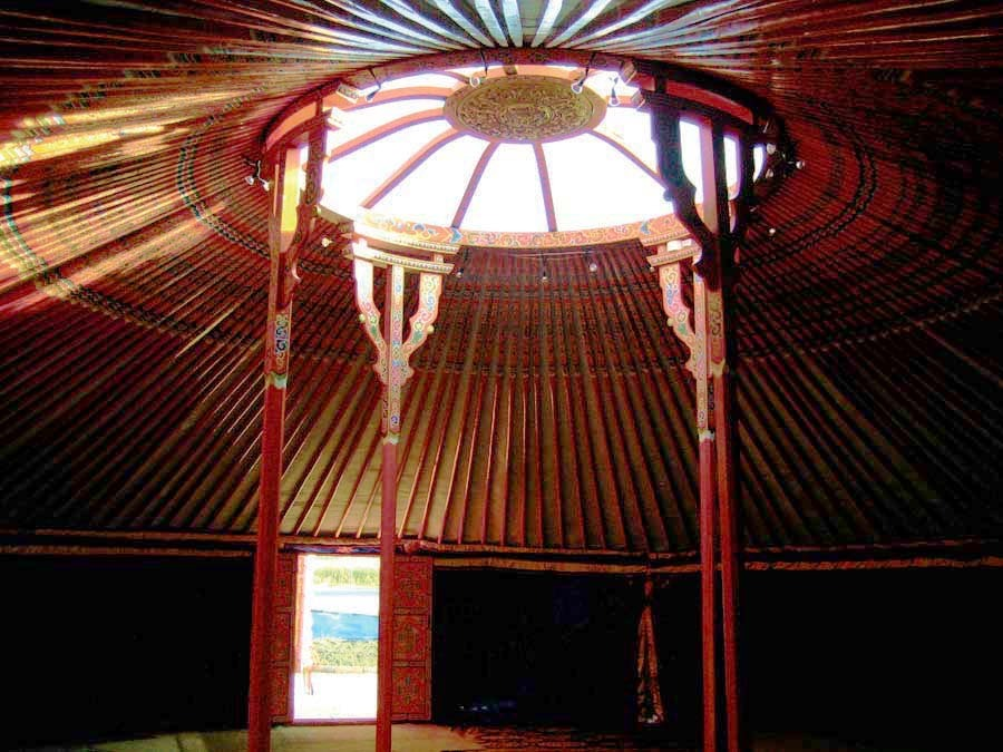 "40"" Yurt indoors"