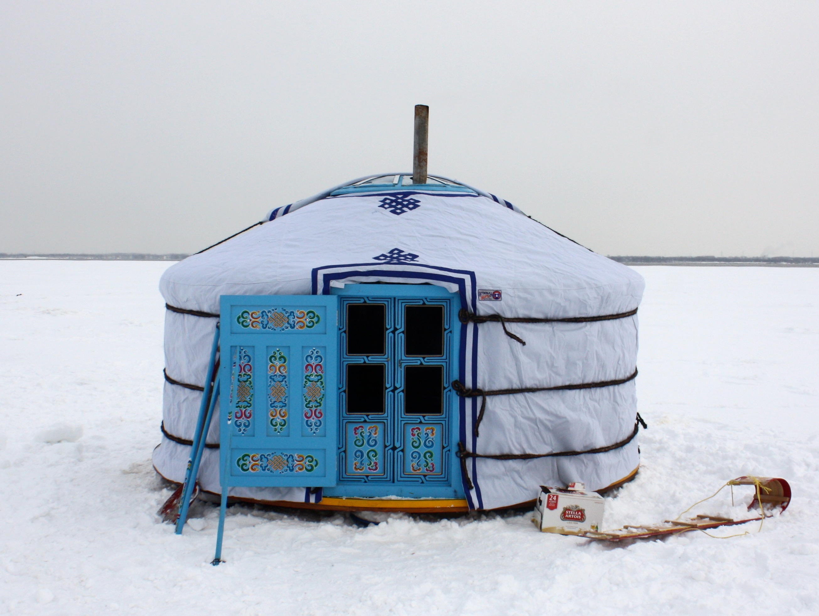 Yurt out in the snow