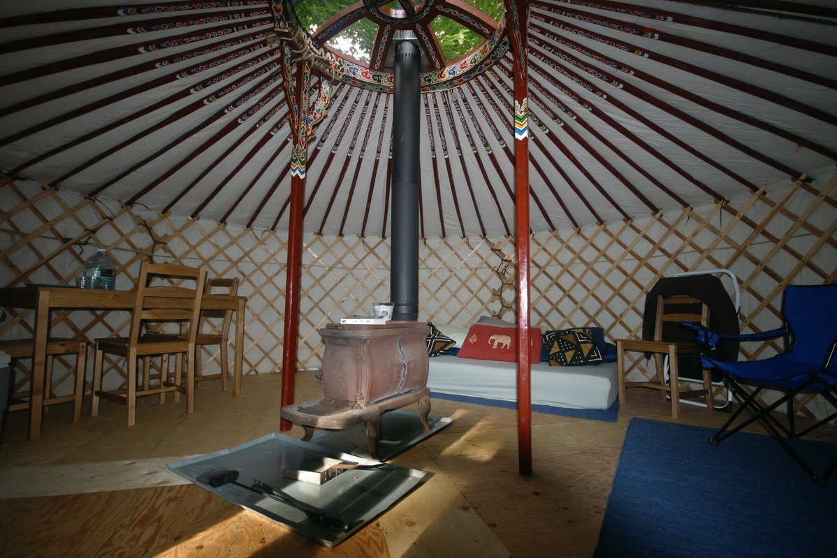 house made from a Mongolian Yurt