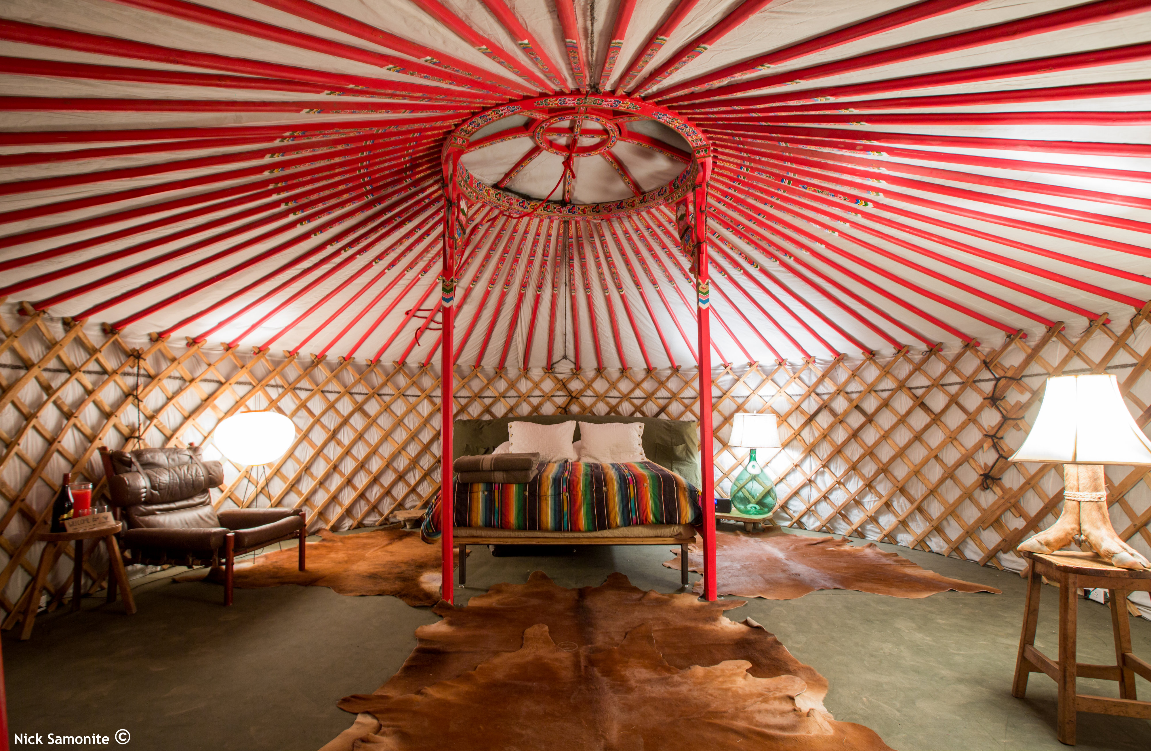 Super Yurt transformed into home