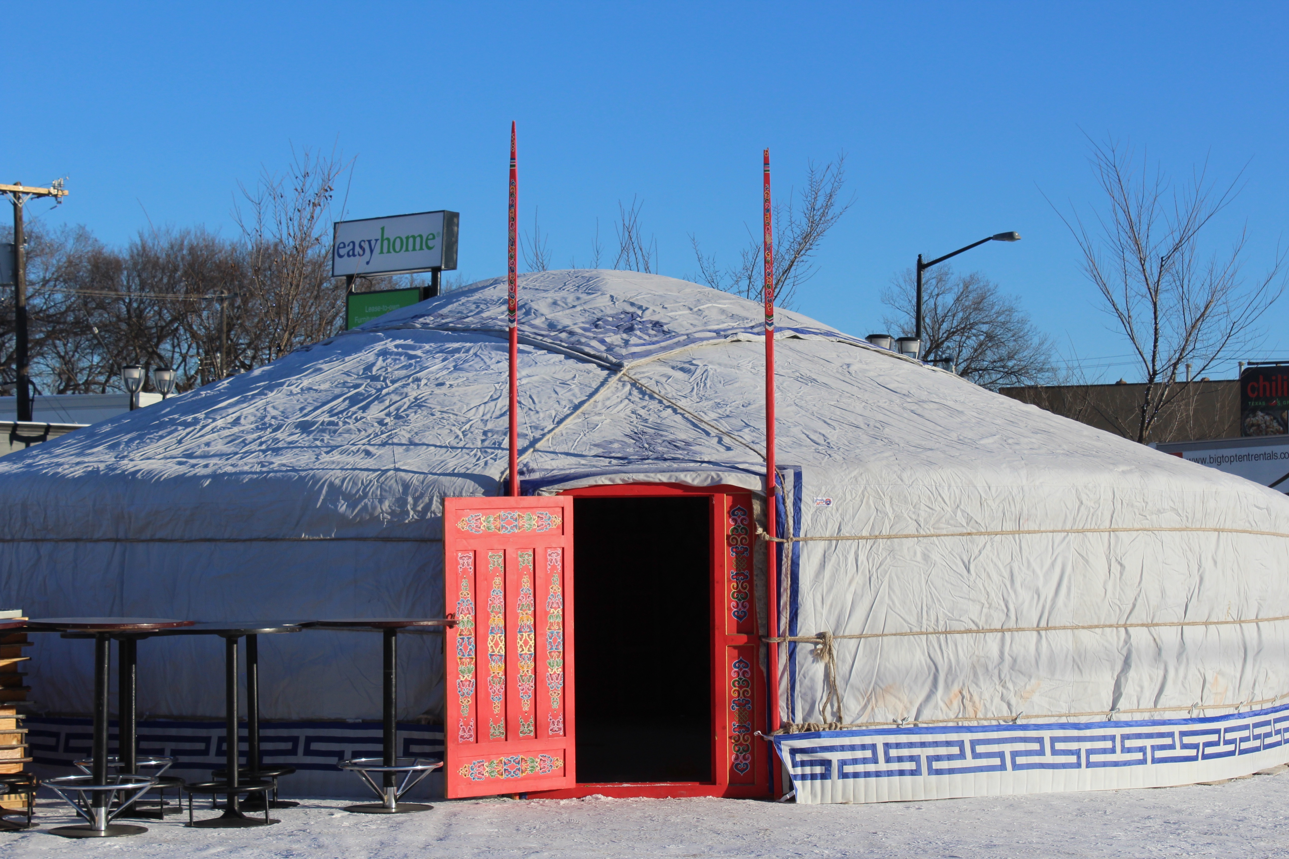 large yurt outside