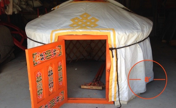 8 foot diameter yurt