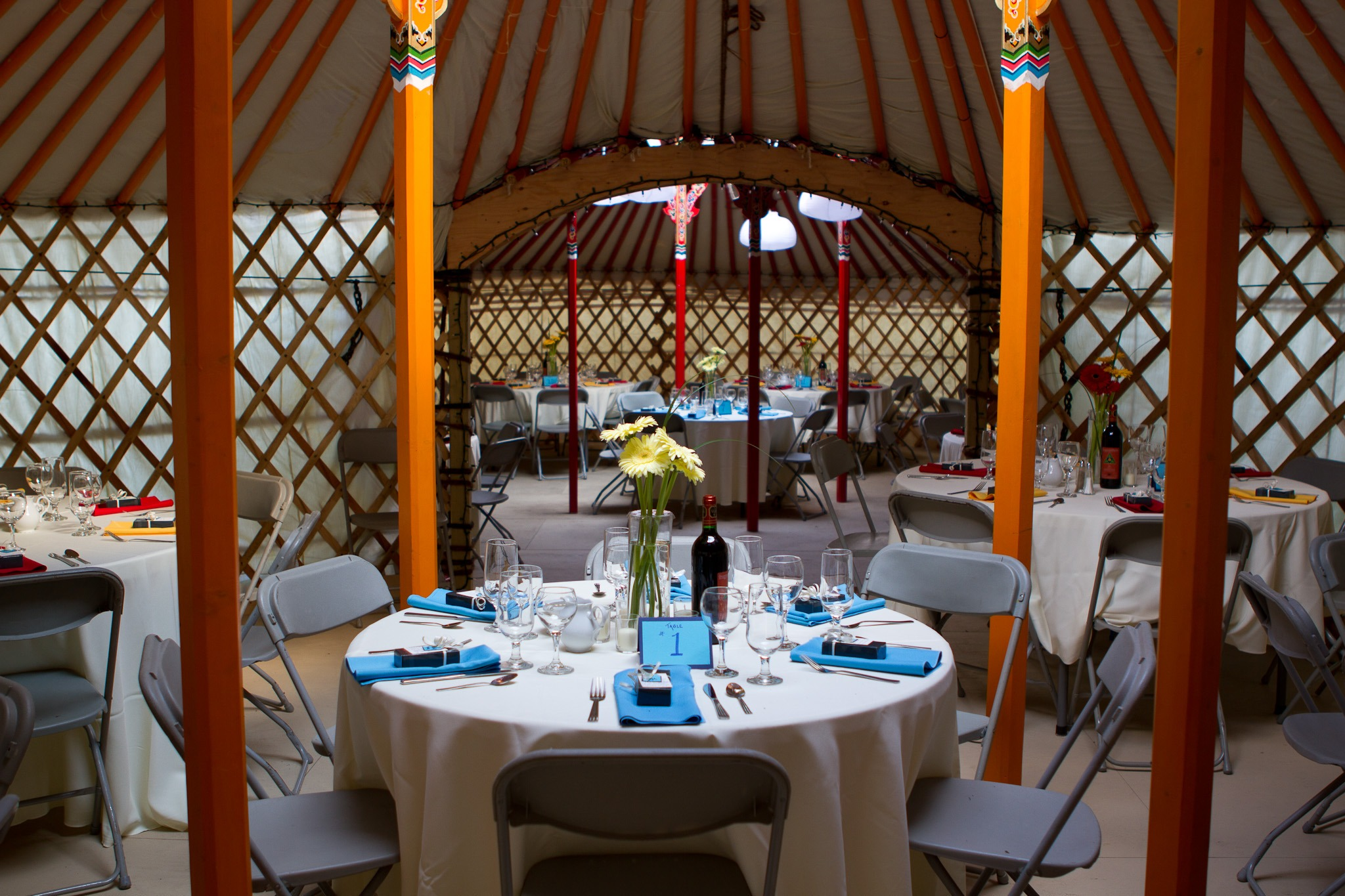 dinner party event in a Mongolian Yurt