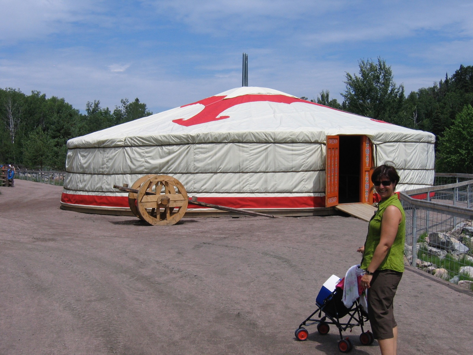 Yurt at a festival