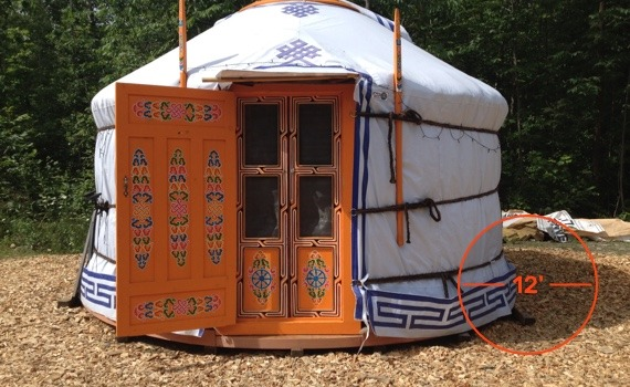 12 foot diameter yurt for cozy sitting or storage