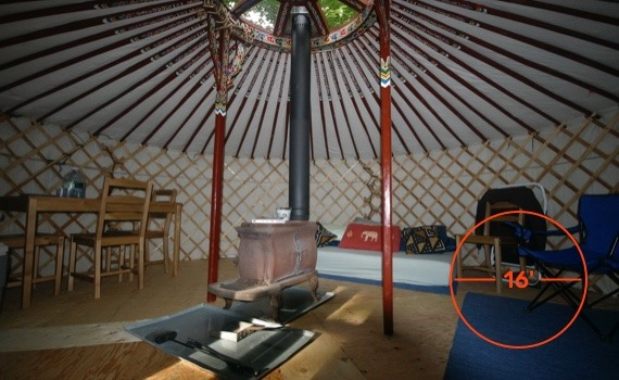 16 foot diameter yurt for living and entertaining