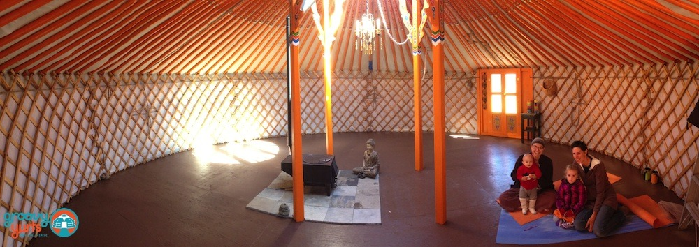 Family in a Mongolian Yurt by Groovy Yurts