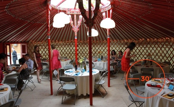 30 foot diameter yurt for wedding service
