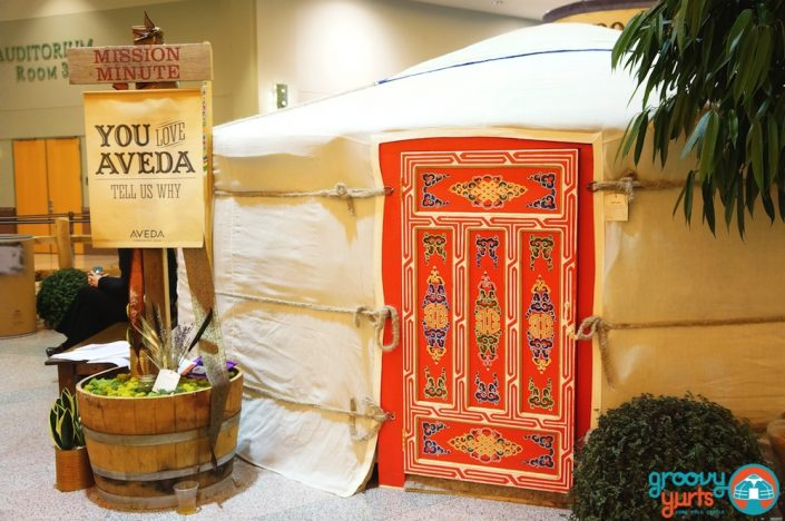 Groovy Yurts at AVEDA'S world annual conference in Minneapolis