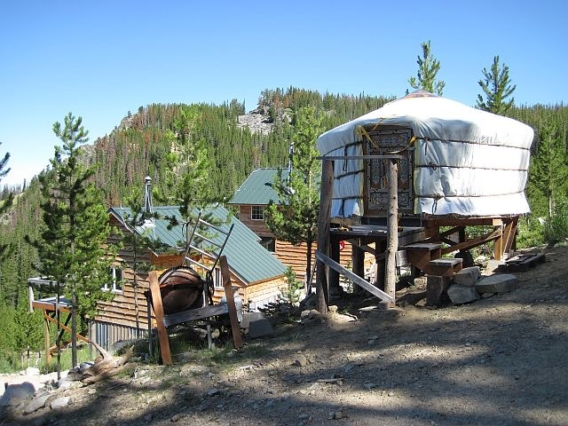 Yurt used as a cottage