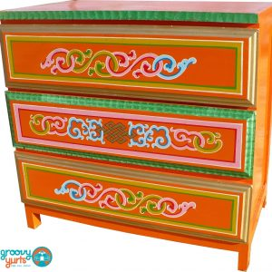Ornate Mongolian chest with drawers for sale Groovy Yurts