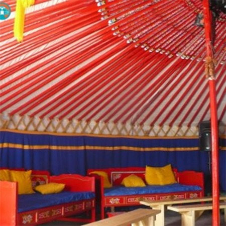 Blue and gold decorative curtains for sale Groovy Yurts
