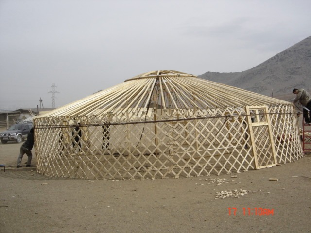 Large Yurt frame without walls
