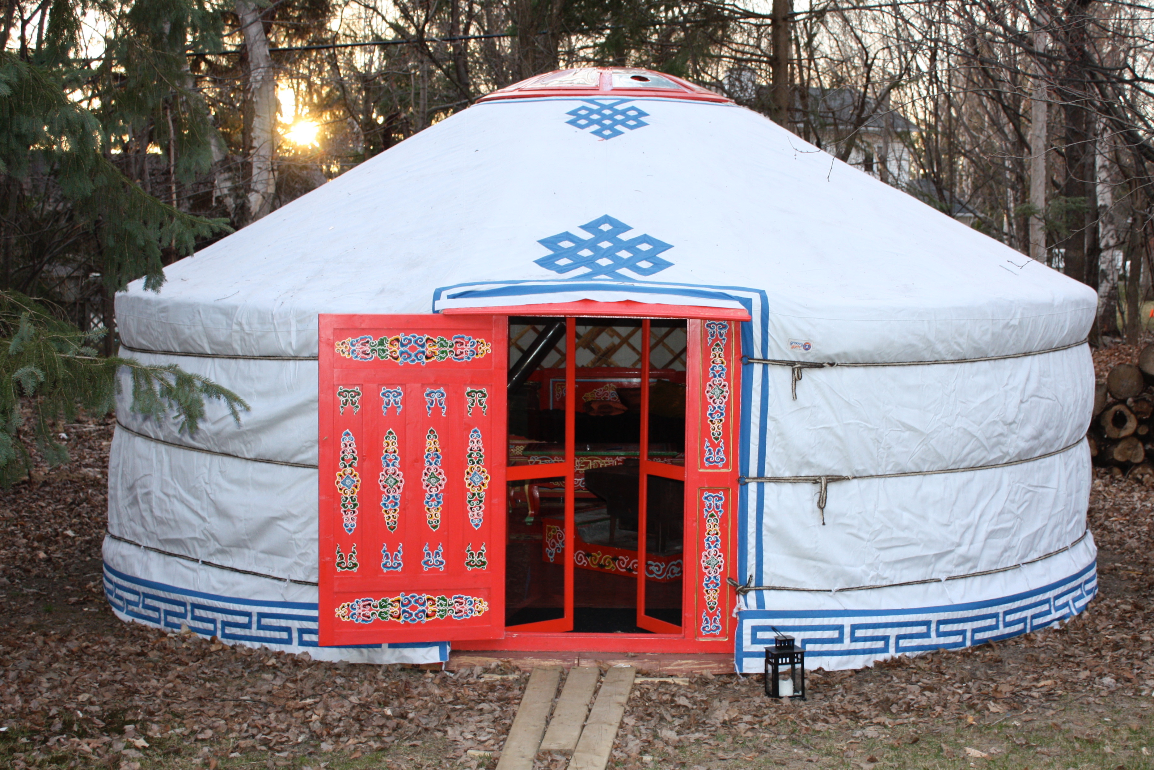 Super Yurt in forest