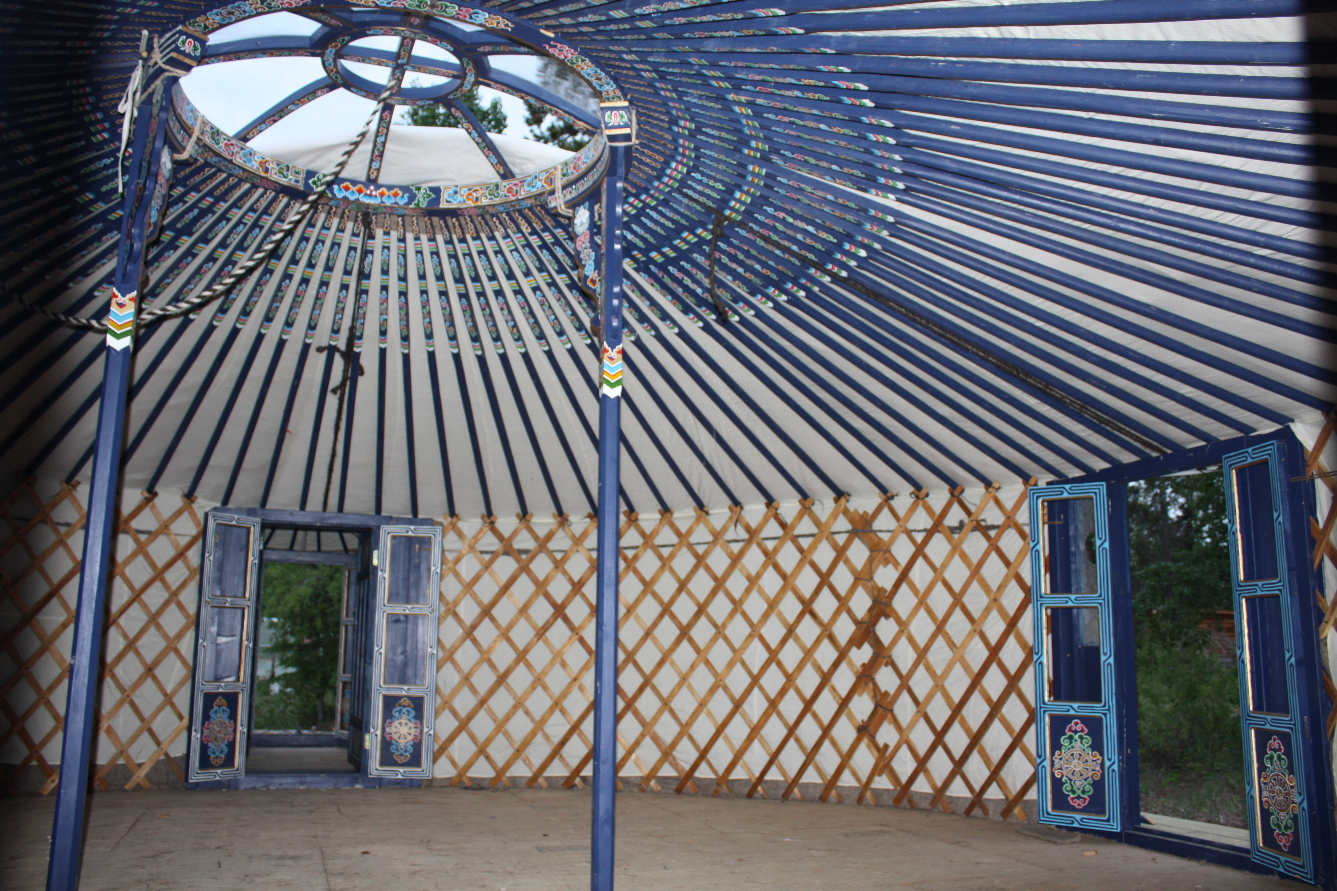 Groovy Yurt with tall walls