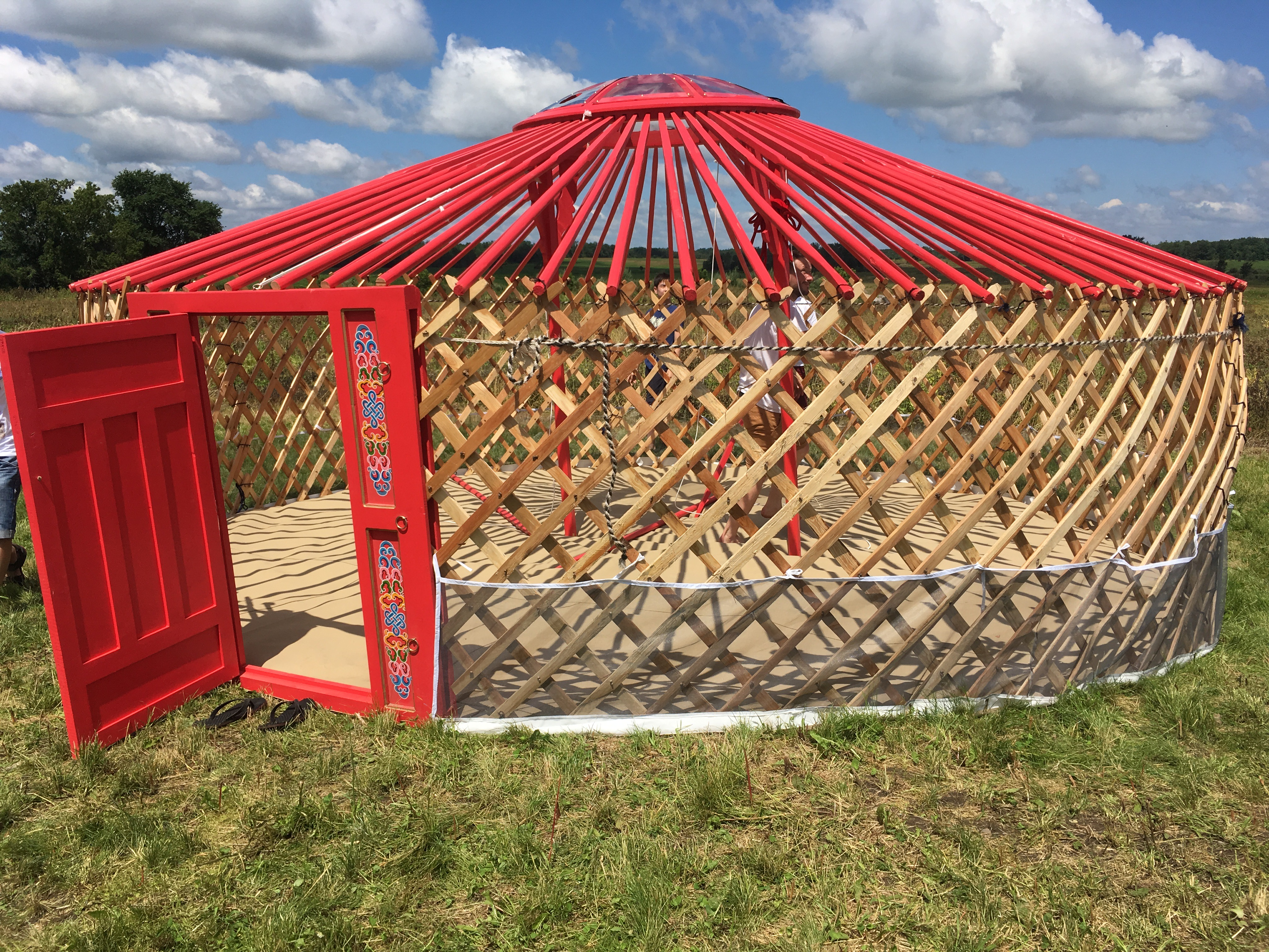 GroovyLite Yurt being set up