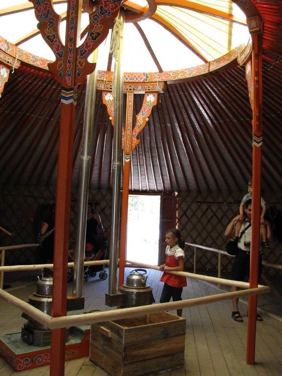 girl inside a yurt