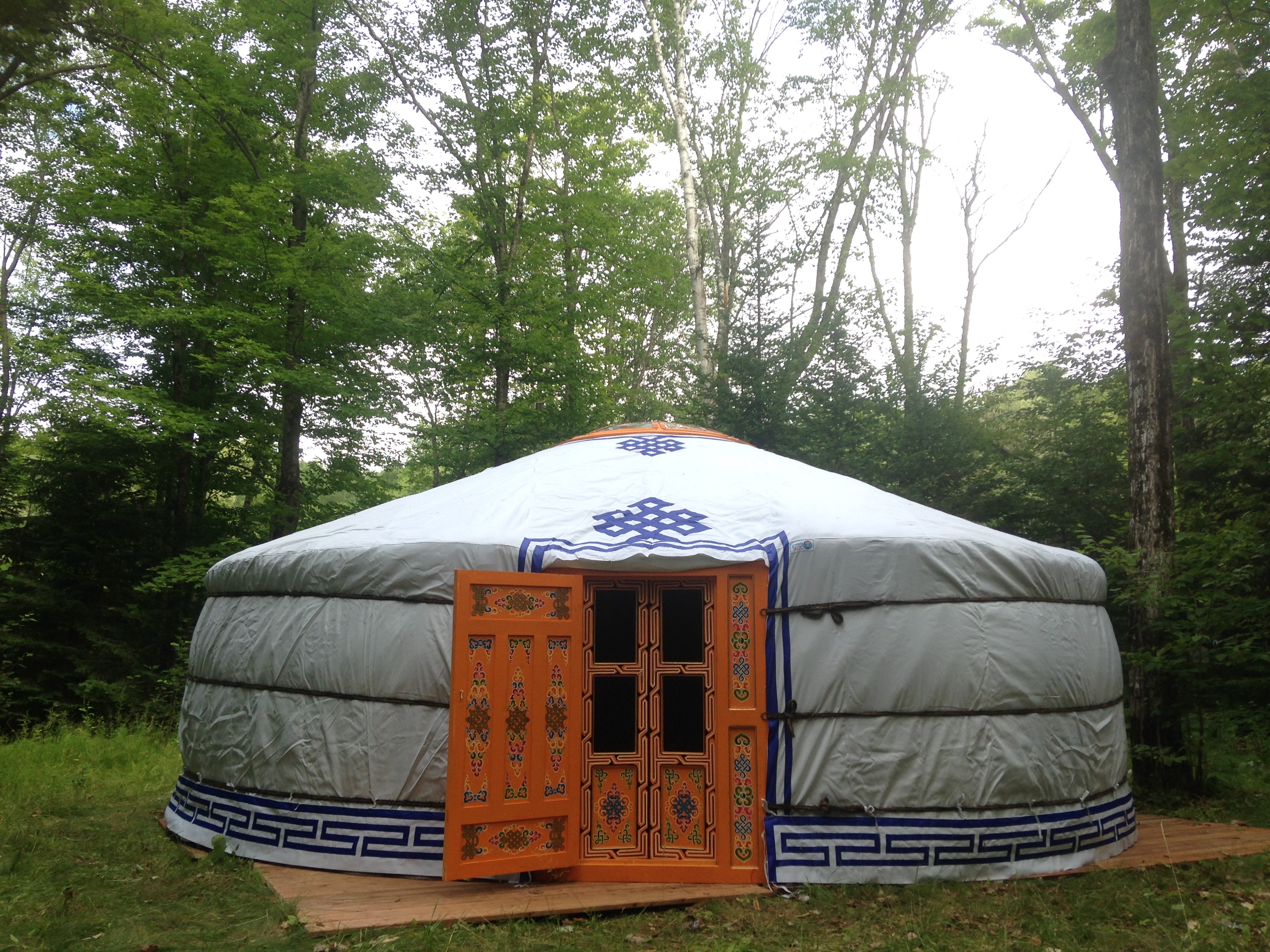 Groovy Yurt in the woods