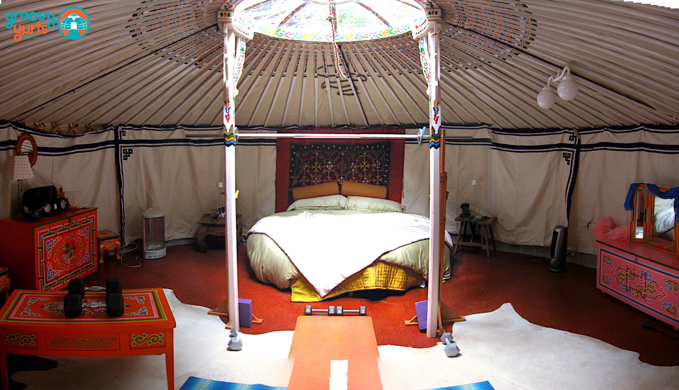 inside a mongolian yurt home