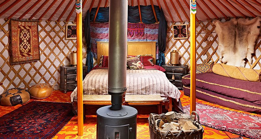 Completely decorated Yurt