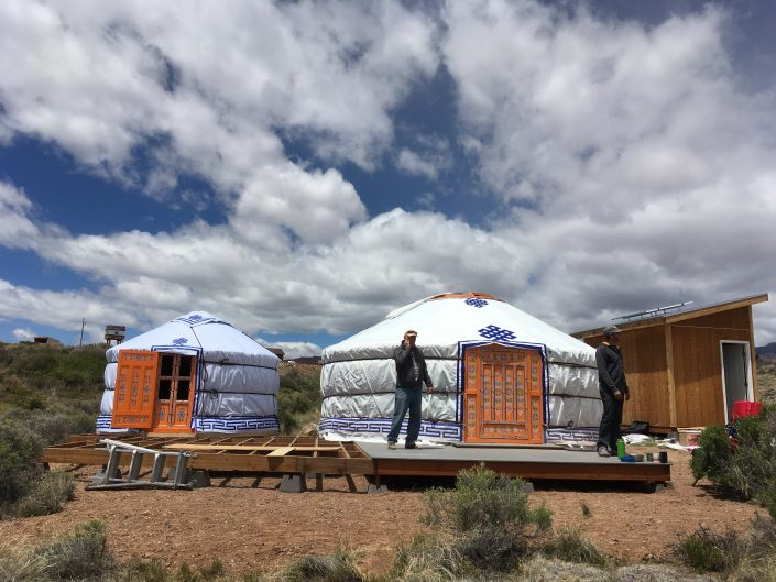 a super ger yurt with raised 3-wall