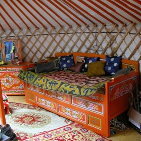 Traditional Mongolian bed for sale Groovy Yurts