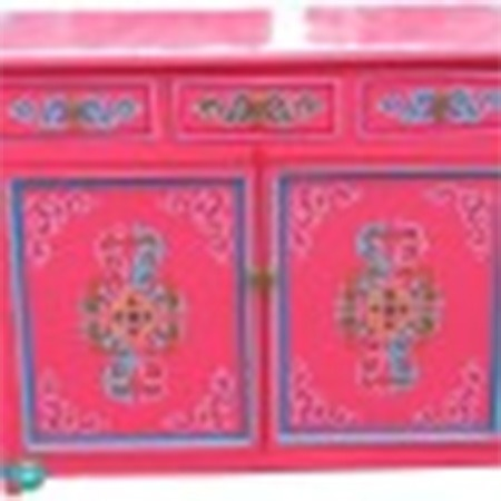 Traditional Mongolian two door buffet furniture for sale Groovy Yurts