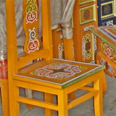 Traditional Straight leg chair for sale Groovy Yurts