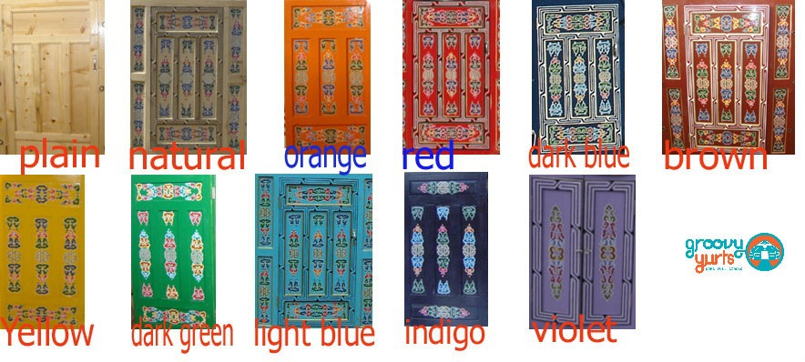 colours of doors offered by Groovy Yurts