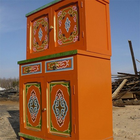 Traditional Mongolian storage furniture for sale Groovy Yurts