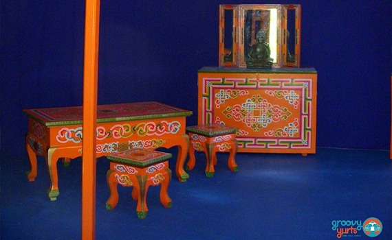 Groovy Yurts furniture