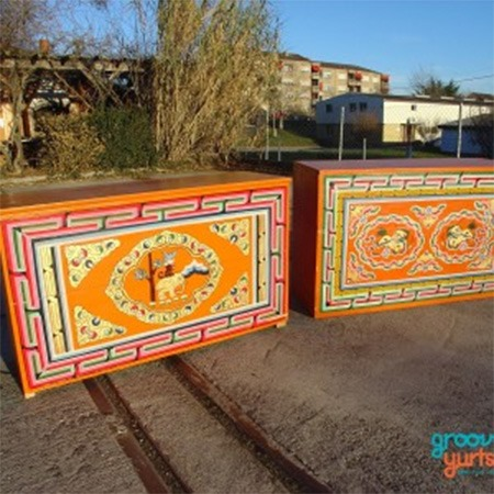 Traditional Mongolian furniture for sale Groovy Yurts