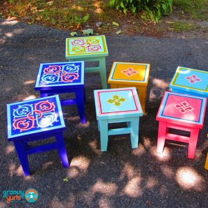 small GroovyYurts tables
