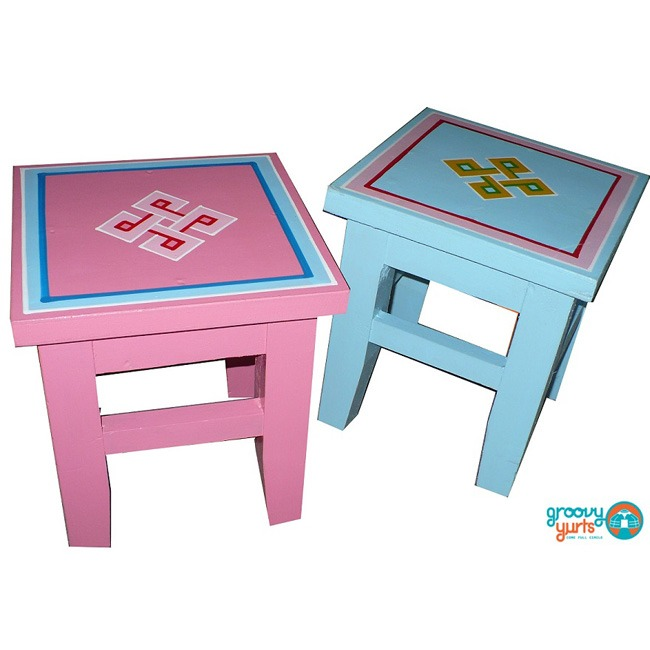 two small GroovyYurts tables