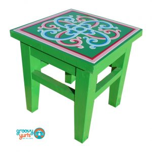 small green GroovyYurts table