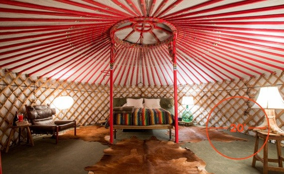 20 diameter Groovy yurt for living and entertaining