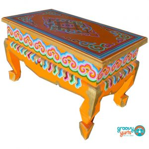 Ornate curved legged table Groovy Yurts