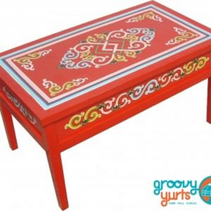 Traditional Straight legged Mongolian table for sale Groovy Yurts
