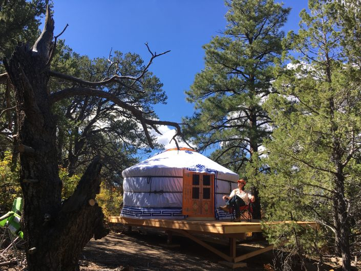 3-wall yurt in New Mexico
