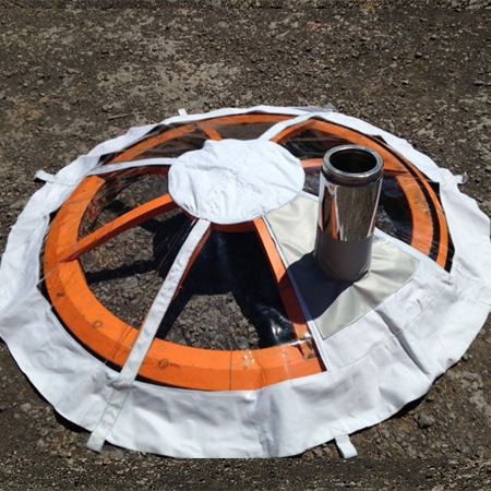 Clear vinyl top covers for Groovy Yurts