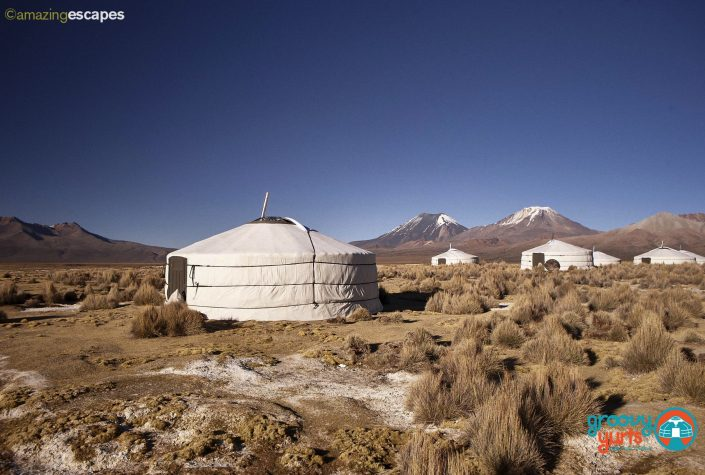 yurt in bolivia that is sitting a 9000 feet altitude