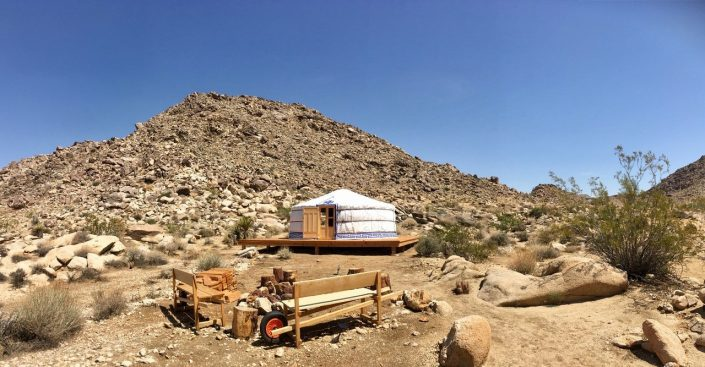 4-wall yurt in the california hills by groovy yurts