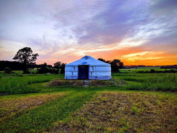 5-wall yurt in the ontario countryside