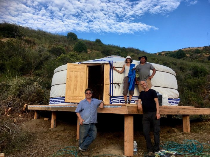 5-wall guest yurt in the san fransico bay area