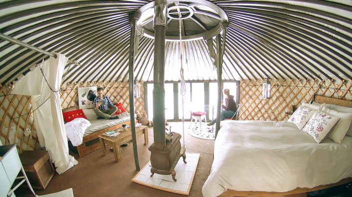 5-wall yurt with large windows by groovy yurts