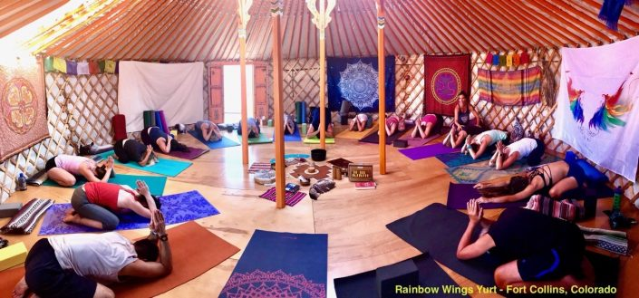 7 wall yurt in colorado for yoga by groovy yurts