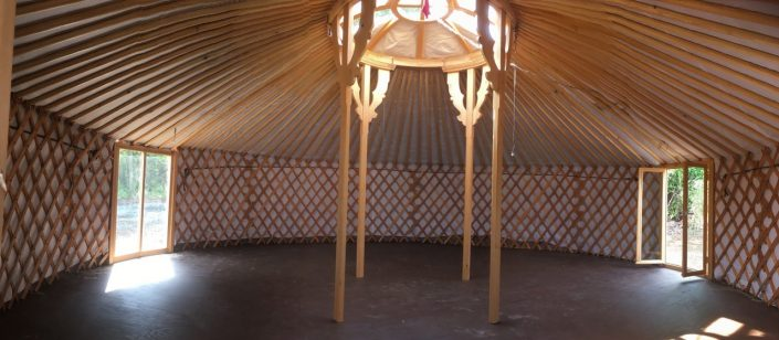 7 wall yurt with bay windows by groovy yurts