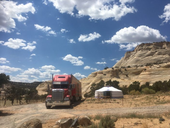 Groovy Yurt Delivered In Scenic Utah countryside